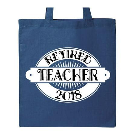 2018 Retired Teacher Retirement Gift Tote Bag Royal Blue One Size