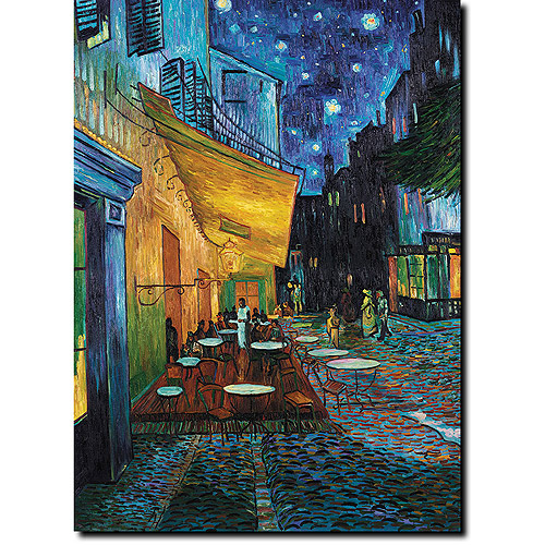 "Trademark Fine Art ""Cafe Terrace"" Canvas Art by Vincent van Gogh"