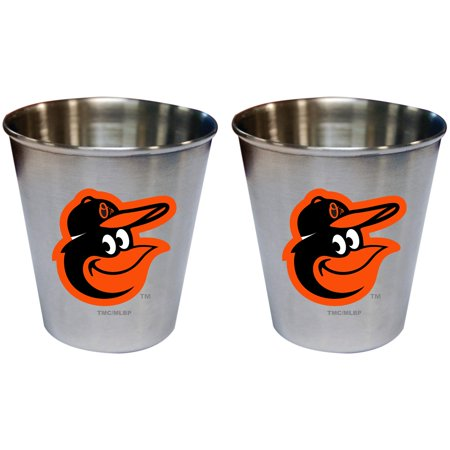 Baltimore Orioles 2oz. Stainless Steel Collector Cups Two-Pack Set - No
