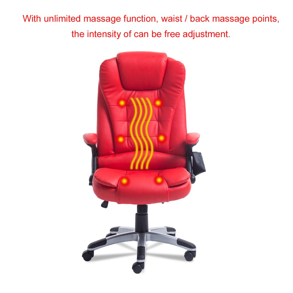 office chair 360 Degree Rotation Home Office Computer Desk Executive Ergonomic Height Adjustable 6 Point Wireless Game Massage Chair