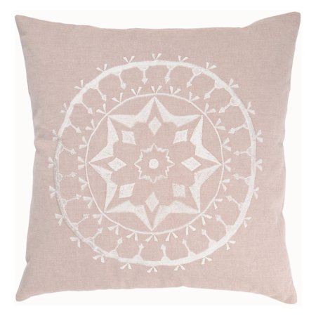 (Rizzy Home Decorative Poly Filled Throw Pillow Medallion 18