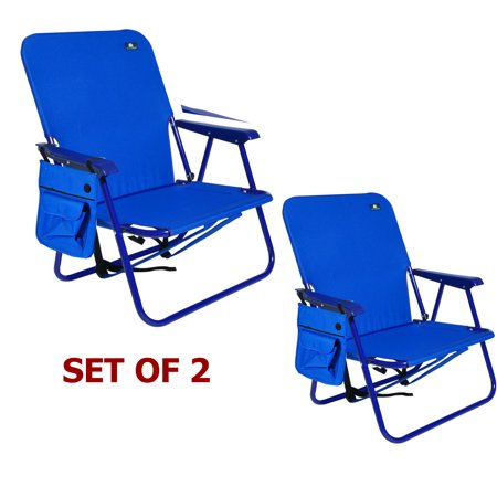 Steel Backpack Beach Chair and Camping Sports Chair - Set of 2 Chairs ()
