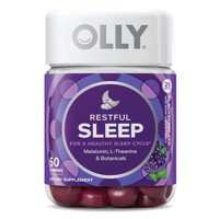 OLLY Restful Sleep Gummies, Blackberry Zen Sleep Gummies, 50 Ct
