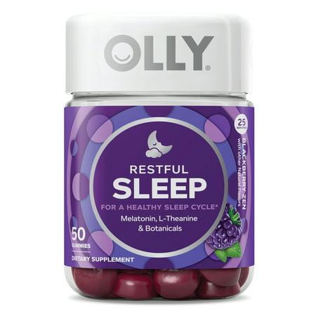 OLLY Restful Sleep Gummies Blackberry Zen Sleep Gummies 50