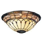 Kichler 340001 Art Glass Bowl Glass For Kichler Ceiling Fans - Stained Glass
