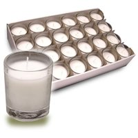 Unscented Poured Glass Votives 2-3/4 Inch X 2 Inch-White