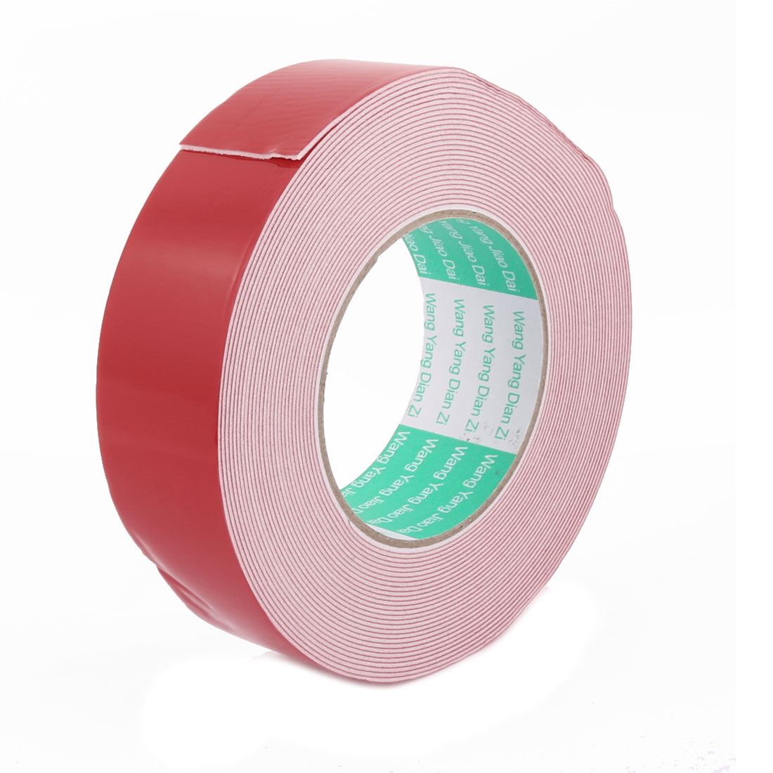 40MM Width 10M Long 1MM Thick Red Dual Sided Waterproof Sponge Tape for Car
