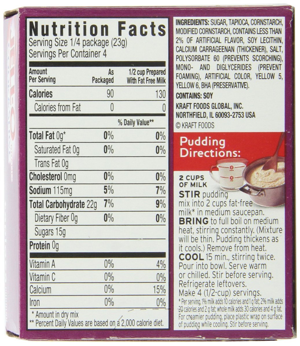 Harry S Tapioca Pudding Nutrition Facts – Nutrition Ftempo