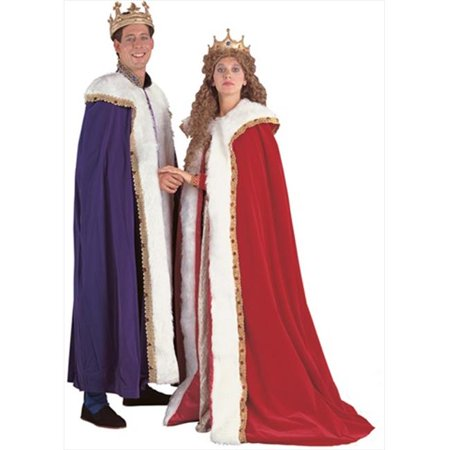 Rubies 90875 King & Queen Cape With Train - Red (King And Queen Costumes)