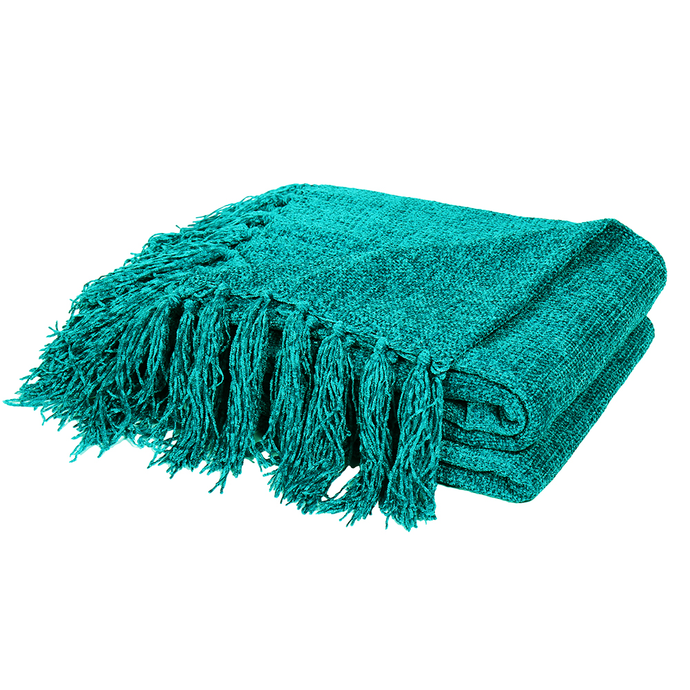 Dozzz Light Weight Decorative Chenille Throw Blanket For Couch