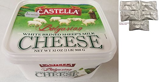 Bulgarian Feta Cheese 2lb. Includes Our Exclusive HolanDeli Chocolate Mints by