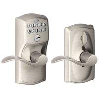 Schlage Fe595v-Cam-Acc Camelot Keypad Entry - Nickel