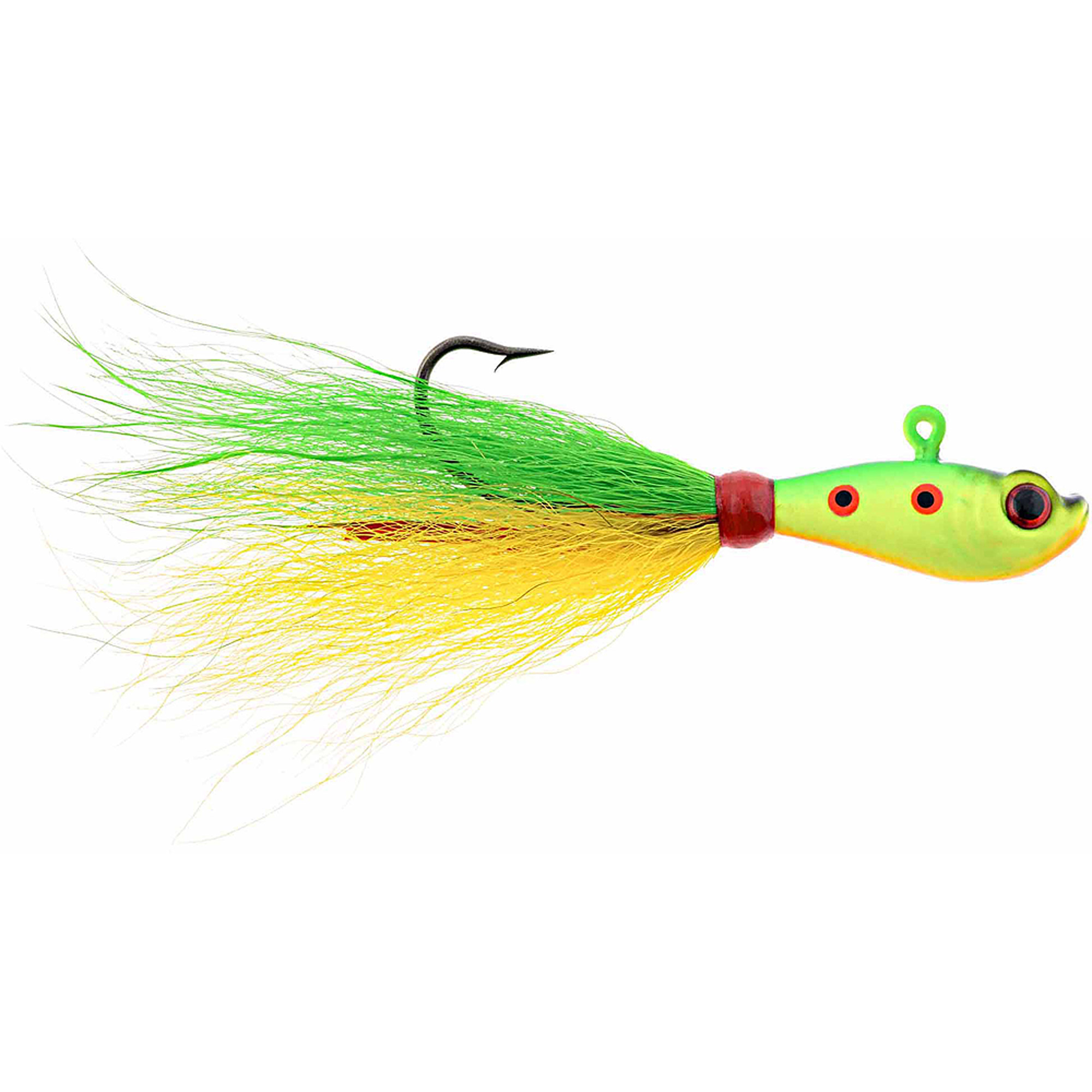 Hurricane 3D Eye Bucktail Jig Multi-Colored by Hurricane