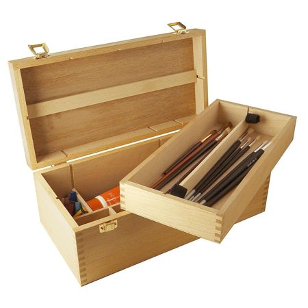Mont Marte Artist Paint Box Easel Storage Box Store Pastels Oil Acrylic Paint Wood Boxes