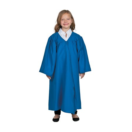 Blue Graduation Robe Blue for Kids - Elementary Kids - 1 Piece (Graduation Robes)