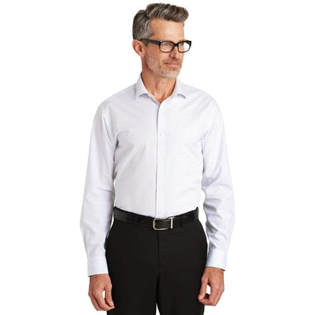 Extra Large House (Red House 1179985 Red House Graph Check Non-Iron Shirt, White - Extra Large )