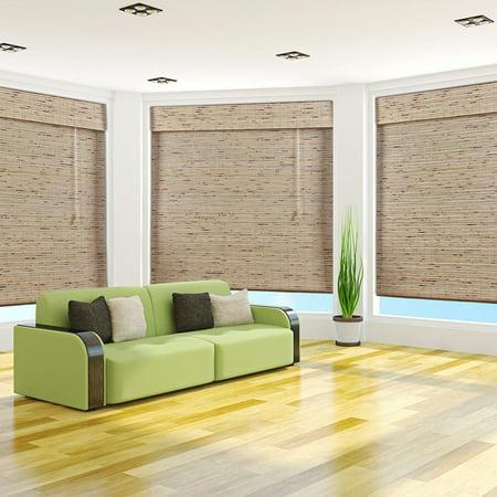 arlo blinds petite rustique bamboo shades27wx74h walmartcom