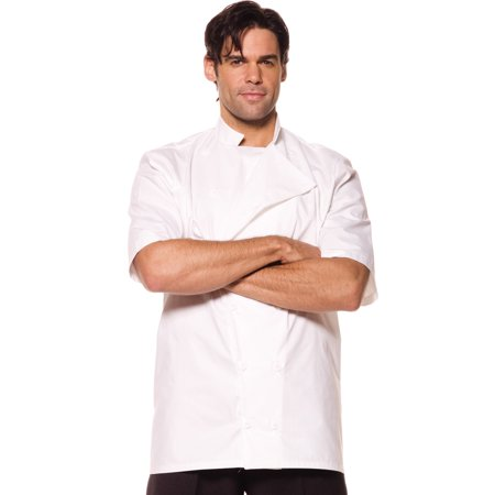 Chef Mens Adult White Cooks Halloween Costume Accessory Shirt for $<!---->
