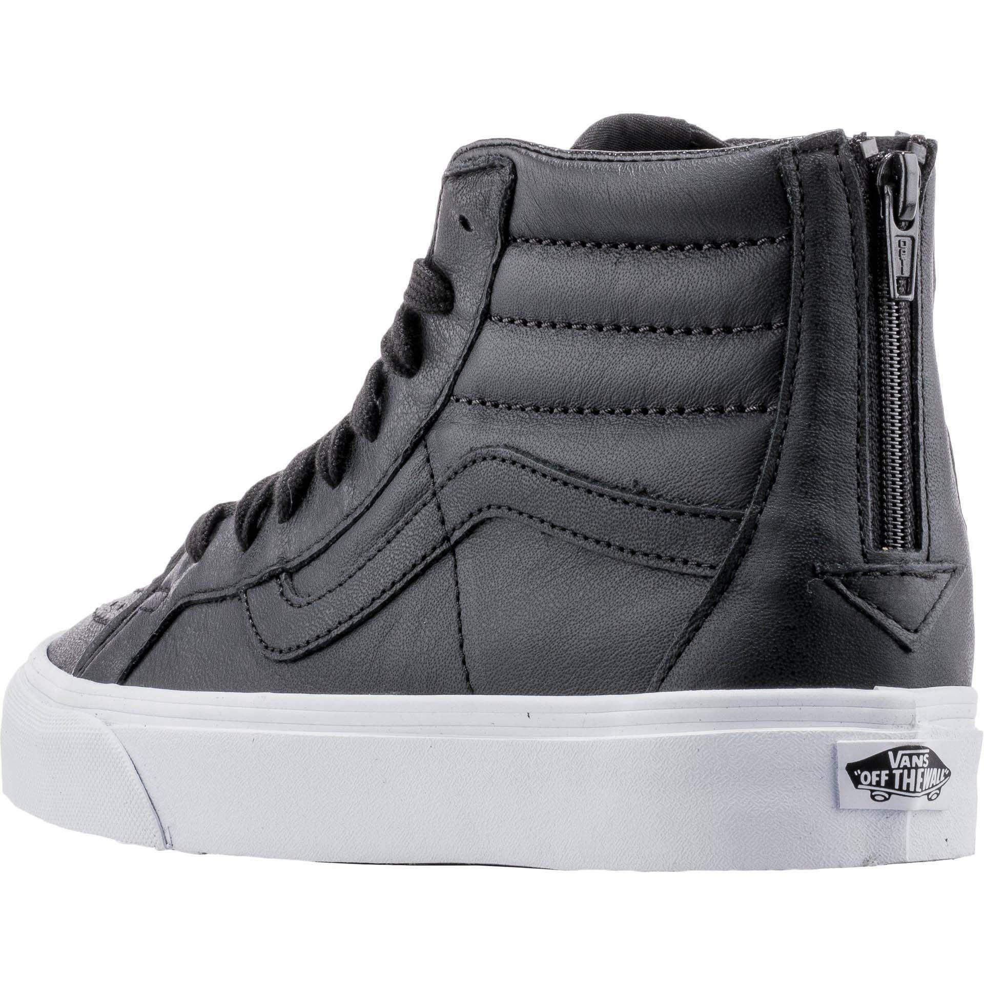 7cf12711b6 Vans - Vans SK8 Hi Reissue Zip Premium Leather Black Men s Skate Shoes Size  10 - Walmart.com