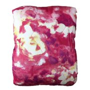 Twin XL Bed Quilt Pretty Pink Floral Watercolor Flowers