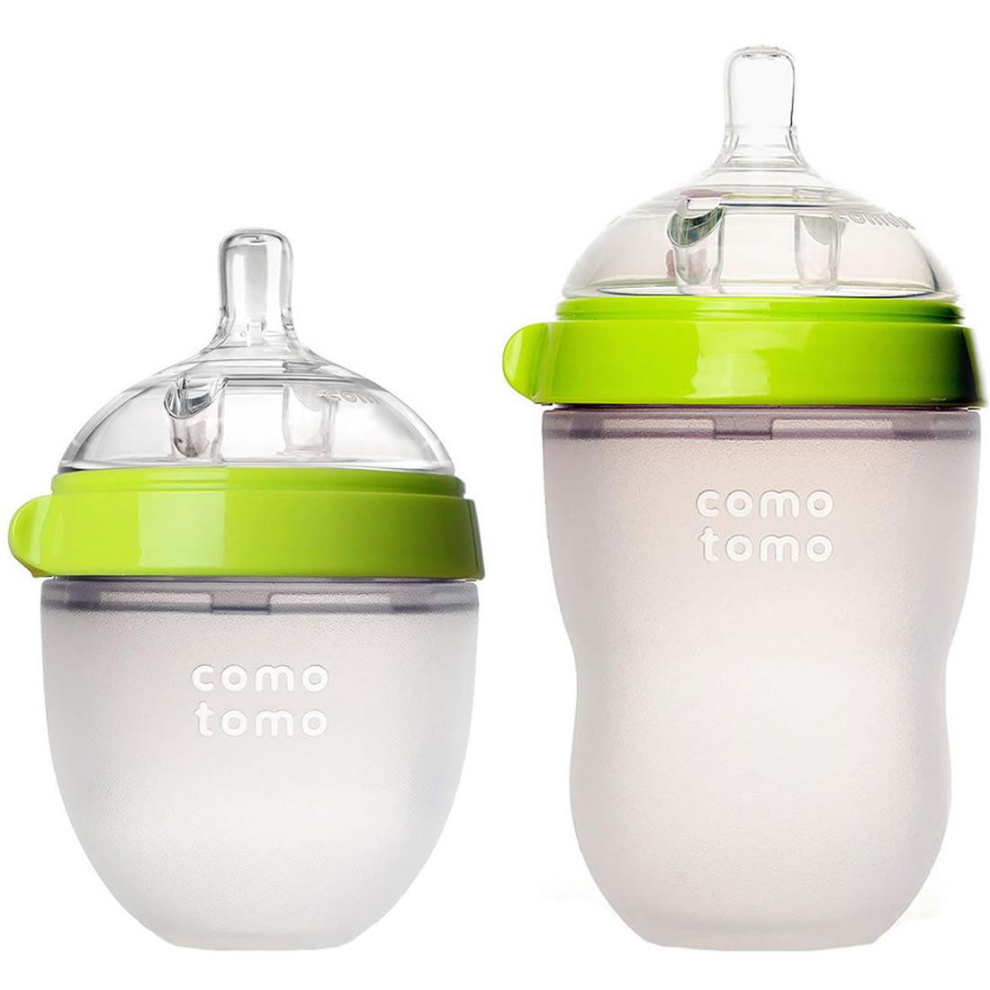 Comotomo Natural Feel Baby Bottle - Green