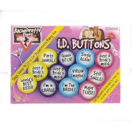 Bachelorette Party Buttons (Bachelorette Party ID Buttons)