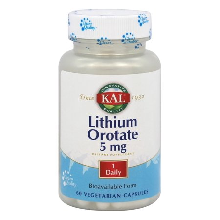 - Kal - Lithium Orotate Bioavailable Form 5 mg. - 60 Vegetarian Capsules