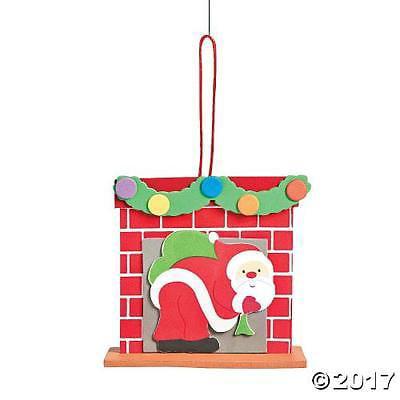 IN-13750141 3D Santa Chimney Ornament Craft Kit