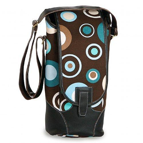 Contemporary Insulated Bottle Wine Carrier w/ Accessories - Cafe Ole Polka Dot