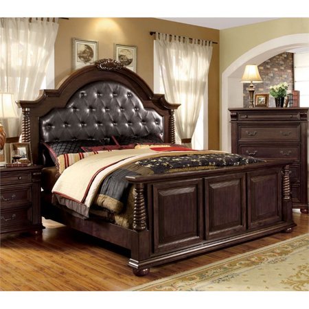 Furniture Of America Catherine California King Tufted Panel Bed