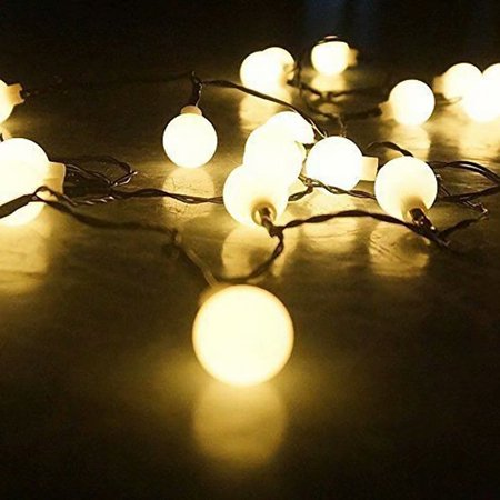 100 Led Globe String Lights, Ball Christmas Lights, Indoor / Outdoor Decorative Light, 39 Ft, Warm White Light - for Patio Garden Party Xmas Tree Wedding Decoration By Spiritup - US Plug (Paper Globe Lights)