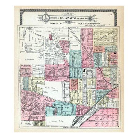 1910, Kalamazoo City, Kalamazoo College, Michigan, United States Print Wall - Party City In Kalamazoo Mi