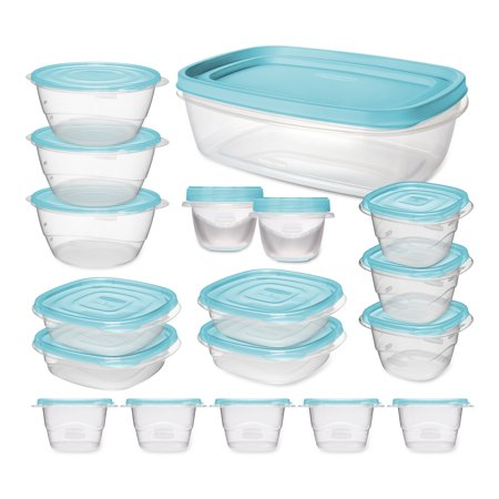 Rubbermaid TakeAlongs Food Storage Container 36-Piece Set with Bonus 2.5 Gal Container and