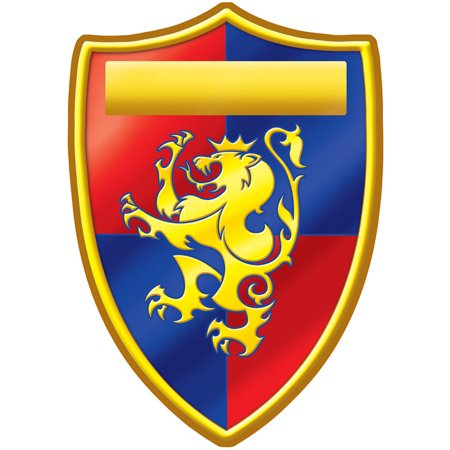 Medieval Crest Peel 'N Place Party Wall Clings Decoration (Medieval Crest)