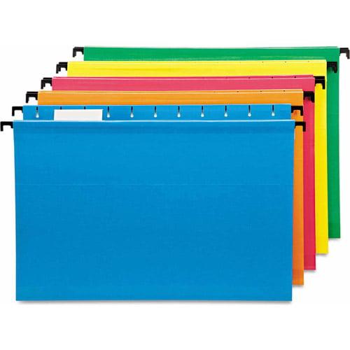 Pendaflex SureHook Poly Laminate Hanging Folders, Legal, Assorted, 20/Box