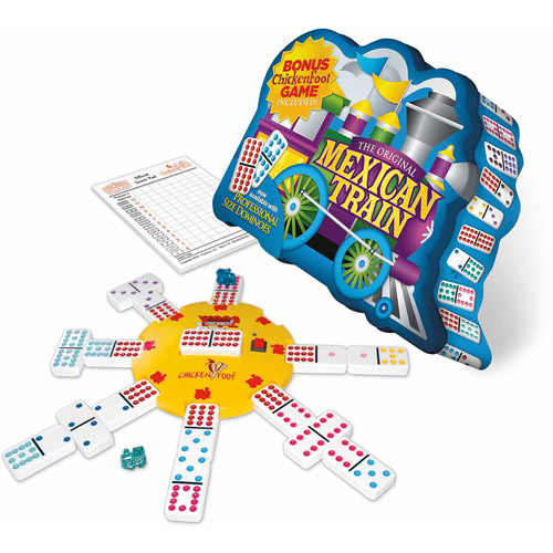 Mexican Train Deluxe Traditional Double 12 Domino Set with Dots