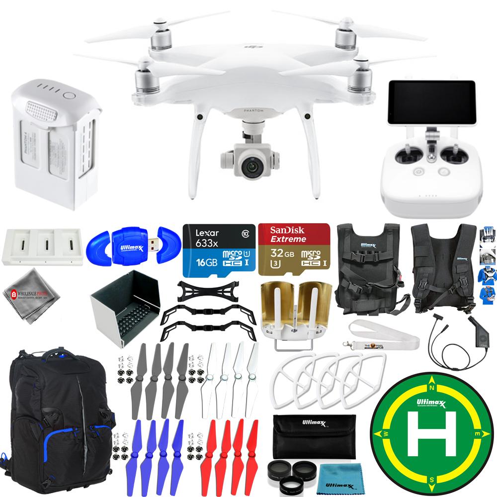 UNASSIGNED DJI Phantom 4 Advanced+ Drone MEGA Ready To Fly EXTREME ACCESSORY BUNDLE