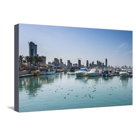 Yacht harbour on Marina Mall, Kuwait City, Kuwait, Middle East Stretched Canvas Print Wall Art By Michael Runkel - Halloween North East Mall
