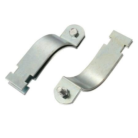 Tasharina 10 Pcs Rigid Steel Conduit Strut Mounted Clamp for 65mm Nominal Diameter Tube - image 2 de 3