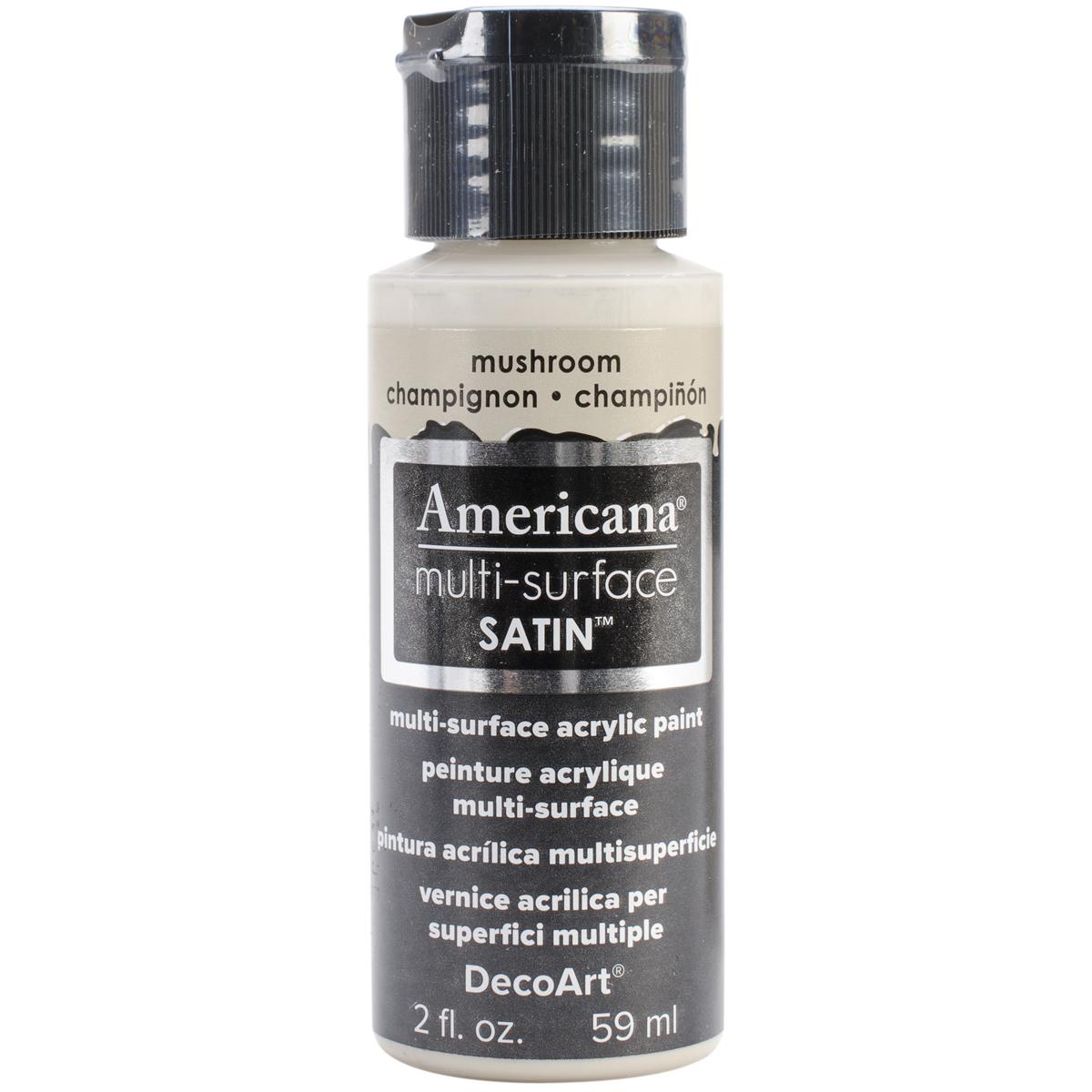 Americana Multi-Surface Satin Acrylic Paint 2oz-Mushroom