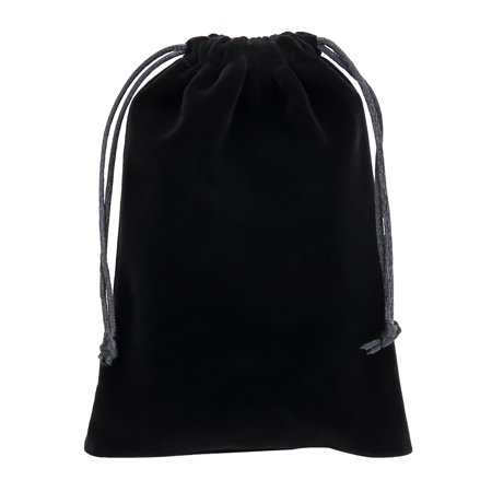 Cloth Bags Wholesale (KABOER Best 12 Pack 7*9cm Wholesale Promotion - Black Velvet Cloth Jewelry Pouches / Drawstring)