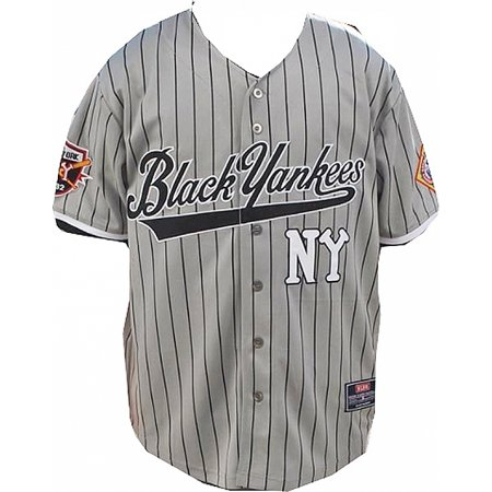 finest selection 7efd8 bd154 New York NY Black Yankees Legends S3 Mens Baseball Jersey [Grey - 3XL]