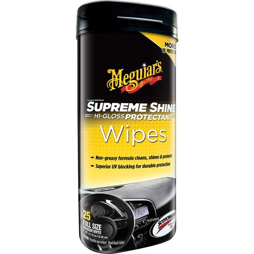 Meguiar's Supreme Shine Protectant Wipes, G4000