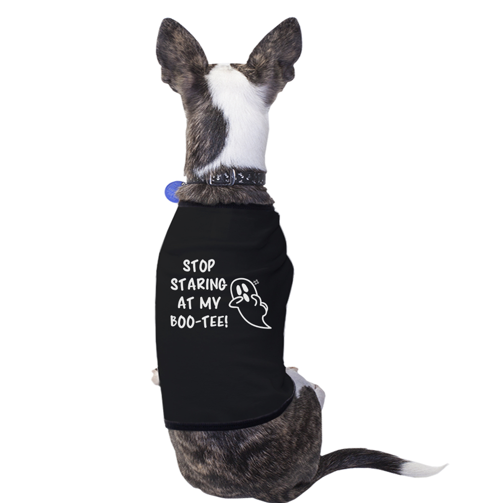 Stop Staring At My Boo-Tee Cute Halloween Pet Shirts For Small Dogs