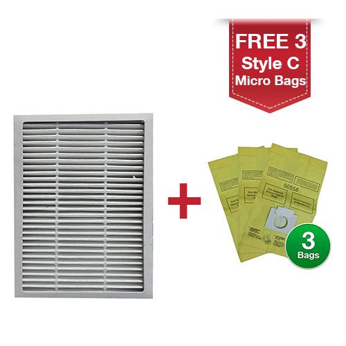 sears kenmore hepa filter replacement 86889 20-86889 ef-1 - walmart.com