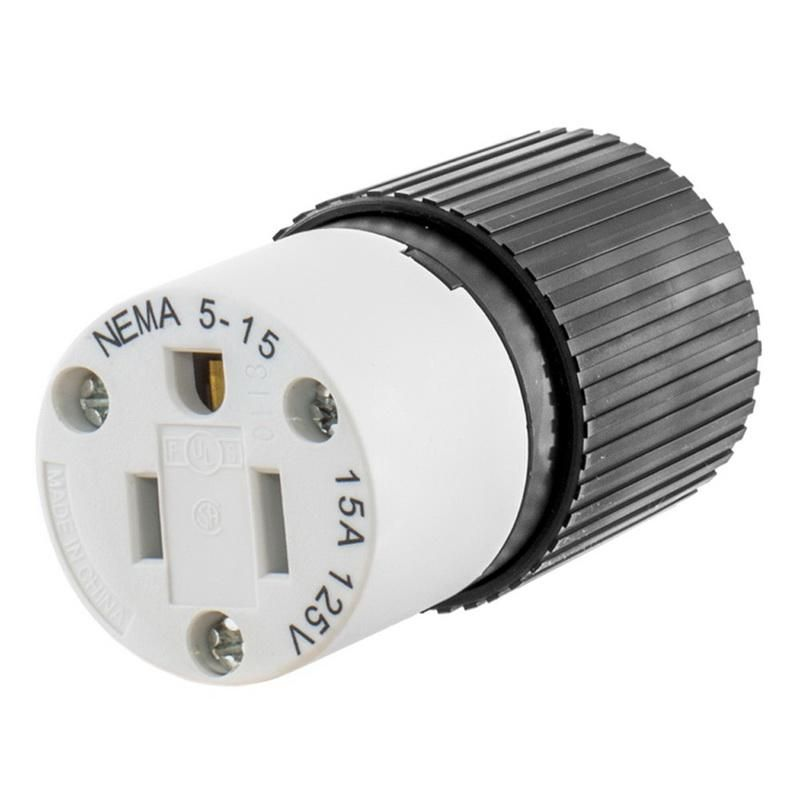 Industrial 125 Volt Female Electric Plug 3 Wire Connector 15 Amp 125V NEMA 5-15P