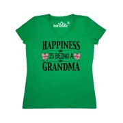 Happiness is being a Grandma with Butterflies Women's V-Neck T-Shirt