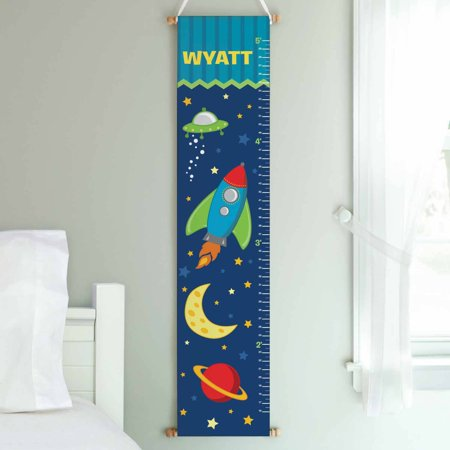 Space Personalized Growth Chart (Personalized Rocket To Space Growth Chart )