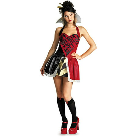 Queen of Hearts Adult Halloween Costume](Red Queen Alice In Wonderland Costume)