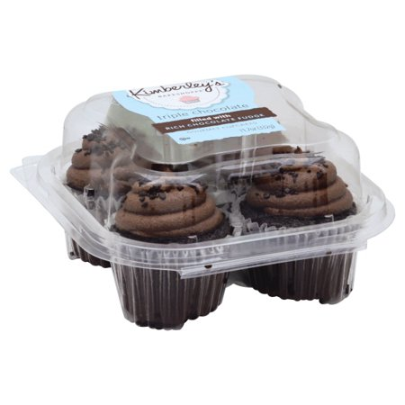 Kimberleys Bakeshoppe Triple Chocolate Gourmet Cupcakes 4ct